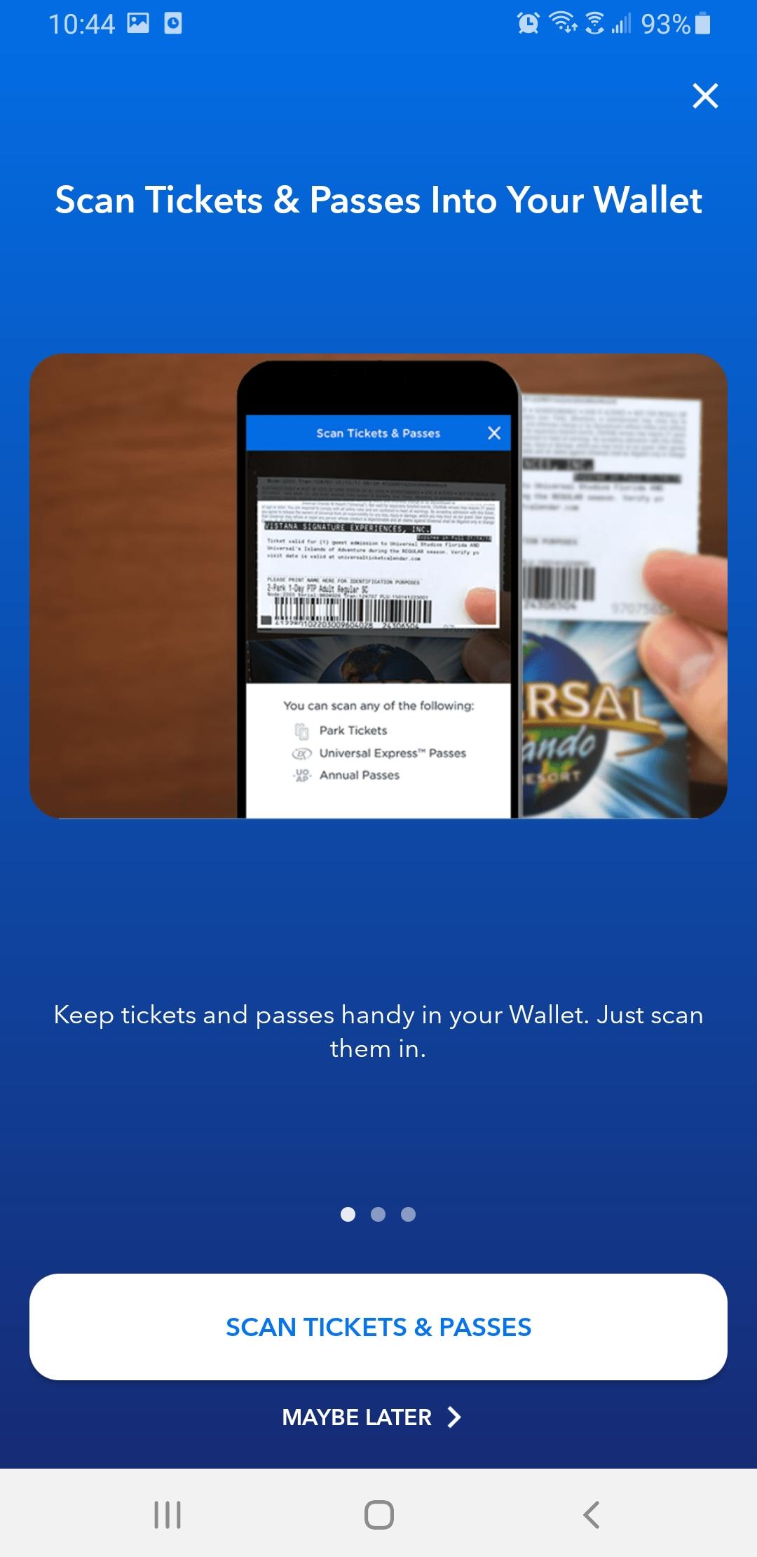 入場券の登録