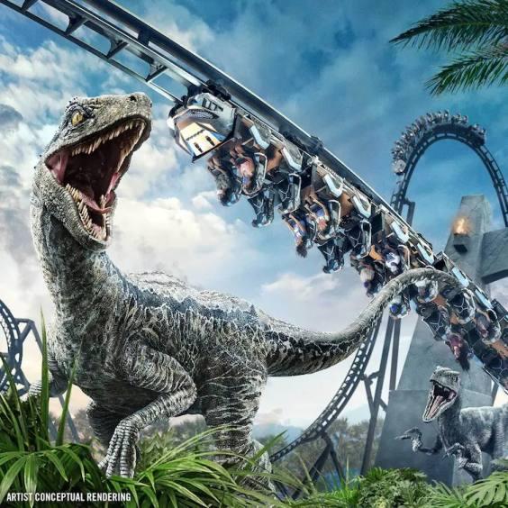 ユニバーサル・オーランドの新アトラクション「Jurassic World VelociCoaster」